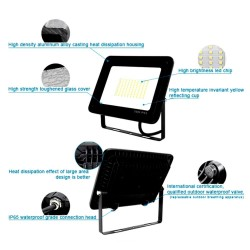 20W LED Outdoor Floodlight Black  ACTION IP65