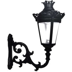 QUEEN Streetlamp for E27 LED Lamp with Arm - Aluminium
