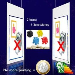 Pantalla LCD Doble Sided Signage Goodview