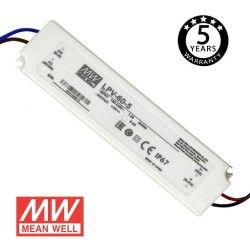 Power supply  PROFESSIONAL 5V 40W 8A - ECOLED - IP67 - TÜV