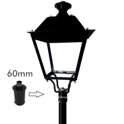 Coupling support for LED street lamp - 60mm