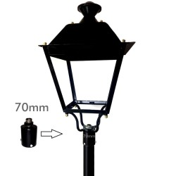 Coupling support for LED street lamp
