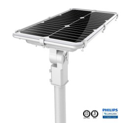 Solcelle LED gatelys 75W PROFESSIONAL - ALL IN ONE - bevegelsessensor 170lm/W