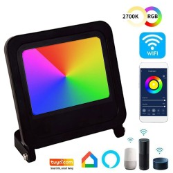 30W LED Floodlight - SMART Wifi RGB+CCT - Dimmable