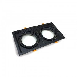 Housing BLACK double adjustable  for AR111